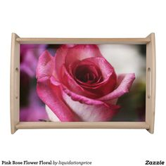 #Pink #Rose #Flower Floral Service Trays