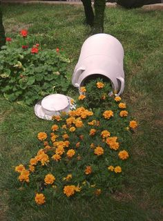 Creative Flower Pots That Look Like Spilled Streams