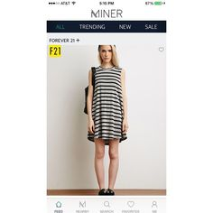 #NowtrendingonMiner This cute, striped dress is now trending and we completely understand why. It's perfect for summer. #forever21