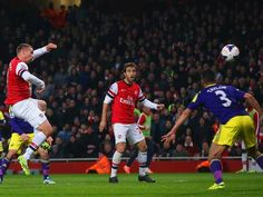 Lukas Podolski levelled the score with a volley for Arsenal against Swansea.