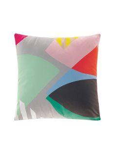 Nord Cushion - 43 x 43cm. Would match a dark grey sofa.  Has a small pop of red in it.