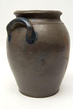 cobalt blue line stoneware | American Antique Stoneware Cobalt Blue Decorated Southern James River ...