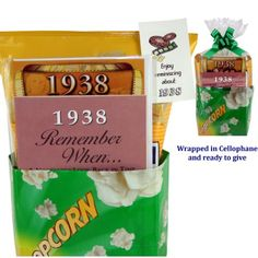 1938 Movie Night Gift Package for 75th Birthday Gift - http://mygourmetgifts.com/1938-movie-night-gift-package-for-75th-birthday-gift/