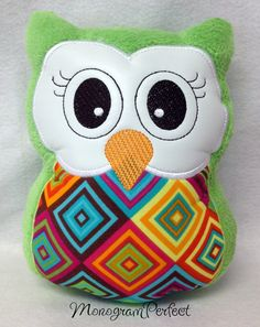 Stuffed Owl Reading Buddy Soft Toy Pillow by MonogramPerfect, $19.99