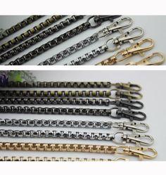 2PCS  47INCH  brass silver gold gun-metal top quality  Purse box Chain, Handbag Supplier,bag Chain Strap connector  Shoulder Chains KS-586 by kesterpurse on Etsy