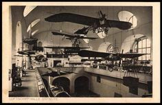 Deutsches Museum,Airship Hall, Eastwing (postcard around 1925)