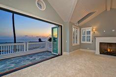 Third floor master bedroom with balcony and unobstructed ocean views