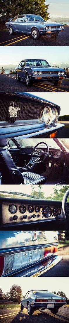 1975 Isuzu 117 GT XC / Giorgetto Giugiaro / 115hp1.5l L4 / Japan / blue / Bringatrailer / 17-325
