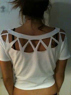 Distressed Cut Out Native Tee Shirt (Perfect Hipster Beach Cover Up)