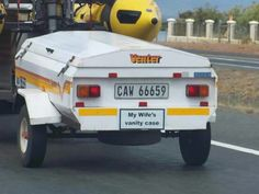 New use for Venter Trailers! Taken on the road to George, Western Cape Durban South Africa, South Afrika, Funny Signs, Funny Jokes, Silly Jokes, Hilarious, Car Brands Logos, African Quotes, Nostalgic Images