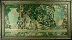 "Maxfield Parrish 1918 ""The Garden of Allah"""