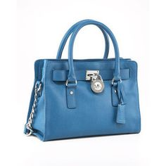 """Micheal Kors Hamilton satchel in """"Oasis"""" blue. Out of stock. Boo."""