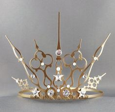 Starry Night Gothique - Gold Star Tiara Gold Crown Star Crown Fairy Crown