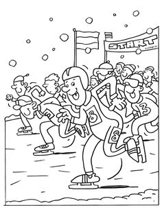 Best Coloring: Olympic winter coloring pages - Amazing Coloring sheets - Coloring Pages Winter, Train Coloring Pages, Sports Coloring Pages, Colouring Pages, Coloring For Kids, Coloring Sheets, Olympic Flag, Olympic Mascots, Olympic Hockey