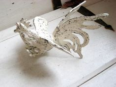 Vintage brass Rooster French rustic finish Up by jensdreamvintage, $12.50