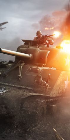 Battlefield V, tank fight, video game, wallpaper Military Working Dogs, Military Art, Star Wars Wallpaper, Tank Wallpaper, Call Duty Black Ops, Guerra Anime, Cool Pictures, Cool Photos, Warrior Spirit