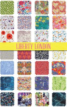 Liberty London New Season Flower Show Fabrics. So lovely!! Liberty patterns are my favorite!!!