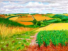 Looking South To Warter , August 2005, by David Hockney, oil on canvas 91.5x122 cm