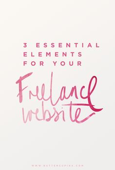 The 3 Essentials For Your Freelance Website | Vari Longmuir