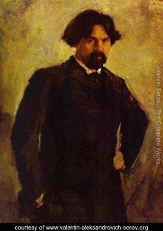 Portrait Of The Artist Vasily Surikov Late 1890s - Valentin Aleksandrovich Serov - www.valentin-aleksandrovich-serov.org