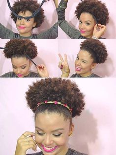The protective style known as the curly puff