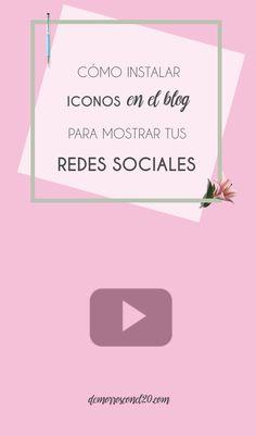 Cómo instalar iconos en el blog para mostrar tus redes sociales.  #fontawesome #diseñodeblogs