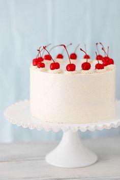 cherry vanilla layer cake by annieseats, via Flickr