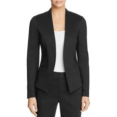 Kobi Halperin Claudia Open Front Jacket (9,910 MXN) ❤ liked on Polyvore featuring outerwear, jackets, black, embroidered jacket, lace evening jacket, embroidered blazer, open front blazer and evening jackets