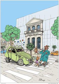 103 meilleures images du tableau dessins 2cv cars - Dessin 2cv humour ...