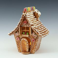 COMMISSION a Gingerbread House Luminary // Ceramic Sculpture // Luminary //Christmas //Gingerbread // Candle Holder Gingerbread Christmas Decor, Christmas Decorations, Gingerbread Houses, Christmas Ornaments, Gingerbread Crafts, Merry Christmas, Necco Wafers, Ceramics Projects, Clay Projects