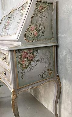 """Outstanding """"shabby chic furniture diy"""" information is offered on our website. Check it out and you wont be sorry you did. Decoupage Furniture, Hand Painted Furniture, Distressed Furniture, Refurbished Furniture, Paint Furniture, Shabby Chic Furniture, Furniture Projects, Furniture Makeover, Vintage Furniture"""
