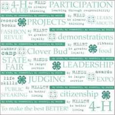 4-hmall.org - Product: 4-H Quotes Scrapbook Paper