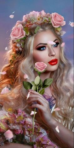 Discovered by Iriska. Find images and videos about gif on We Heart It - the app to get lost in what you love. Purple Flowers Wallpaper, Flower Phone Wallpaper, Beautiful Fantasy Art, Beautiful Gif, Good Morning Roses, I Love You Pictures, Lovely Girl Image, Lovely Eyes, Girls With Flowers