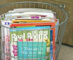 Tips to Organize Magazines