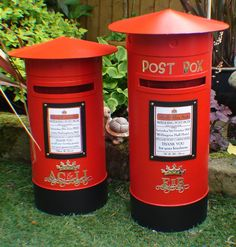 Wedding, Birthday, Christening, Letters to Santa, Any occasion or use Post boxes, Any colour. Including personalised sign & 3D crown & scrolled initials. 3 sizes available. From £49.99