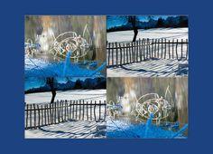 """'Viererbild """"Winter"""" pp2' von Rudolf Büttner bei artflakes.com als Poster oder Kunstdruck $19.41"""