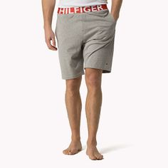 Tommy Hilfiger Cotton Jersey Short - grey heather bc05 (Grey) - Tommy Hilfiger Bottoms - detail image 0