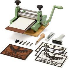 Linocut set and press by Manufactum