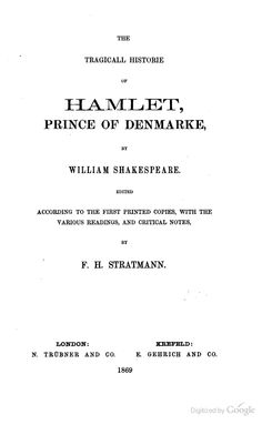Hamlet, William Shakespeare -- a Wolsey Hall Oxford staff pick!