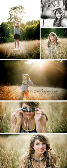 Summertime Senior | Ashley | Nikkala Anne Photography senior girl photography photo session inspiration country swimming swimmer field art
