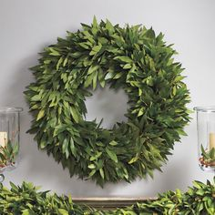 bay leaf wreath from williams sonoma. simple and pretty