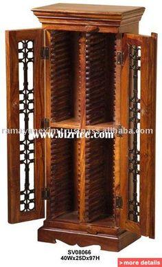 cd/dvd cabinet,cd rack,cd/dvd stand,cd/dvd storage,home,living room furniture,sheesham wood furniture,mango wood furniture / India CD Racks for sale
