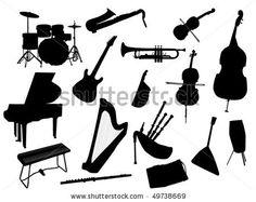 musical silhouettes
