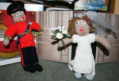 Knitted Kate and William.