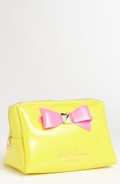Love this! Ted Baker London Large Bow Cosmetics Bag available at #Nordstrom