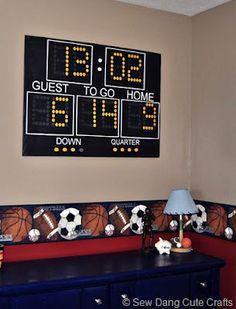 Scoreboard with birthday