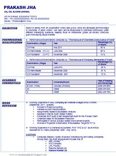 Sample Template of an Excellent Company Secretary Resume Sample ...
