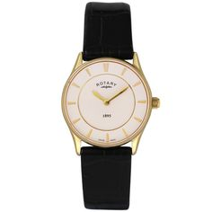 Rotary - Ladies' Ultra Slim Gold Plated Watch LS08203/02