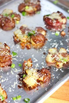 Crispy Smashed Potatoes! Originally from the Pioneer Women...I so wanna be her when I grow up!