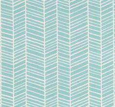 Changing pad cover in aqua herringbone by HudsonBedford on Etsy, $22.00